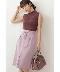 ◆ウエストリボンカラーツイルタイトスカート