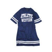 「220-03」キッズ ワンピース 子供服 半袖 女の子 ガールズ ビッグ BIG  Tシャツ プリ