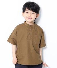 スタンドカラー半袖シャツ
