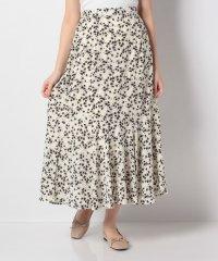 シルエット花柄 マーメイドスカート
