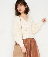 【natural couture】ポンポン柄編みカーディガン