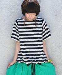 『nOrボーダーリボンアレンジTシャツ』