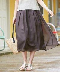 【WEB限定色あり】洗えるブライトスパンボイル スカート