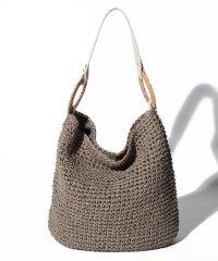 カシュカシュ cachecache / ラタンリングつなぎ手編みワンショルダーバッグ