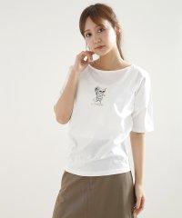 [LASUD] 【手洗い可】ドッグモチーフ プリントTシャツ