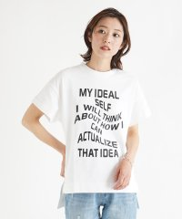 [radiate the lifedress] 【手洗い可】カーブロゴ Tシャツ