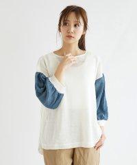 [soeur7] バルーン袖ドッキングニット