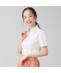 【ディズニー】シャツ 半袖 形態安定 ワイド衿 綿100% レディース