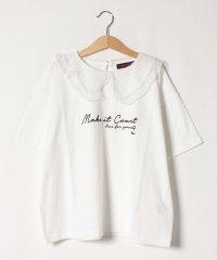 ドットチュール衿ロゴ刺しゅうTシャツ