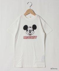 【DISNEY】 ミッキーマウスデザイン フェイスロゴビッグTシャツワンピース