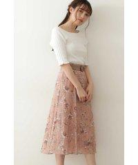 ◇シアーボカシフローラルスカート