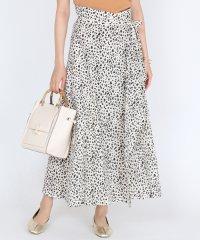 GRANDTABLE(グランターブル) レオパード柄ラップロングスカート