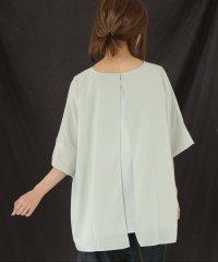 『nOr異素材シフォンデザインTシャツ』