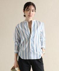 [Mansart] 【手洗い可】マルチカラーストライプコットンシャツ