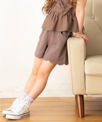 【80-130cm】スカラップ裾 ショートパンツ