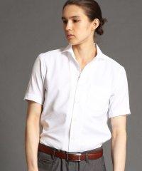 セミワイドカラー半袖ドレスシャツ