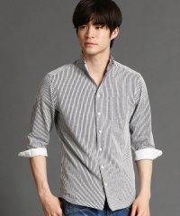 イタリアンカラ-7分袖シャツ