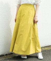 麻ロングフレアスカート