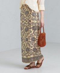 FM スカーフプリント ロング スカート