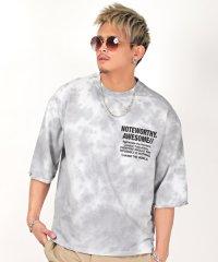 タイダイ染めBIGTシャツ/Tシャツ メンズ 半袖 五分袖 ビッグシルエット タイダイ ビター系 BITTER