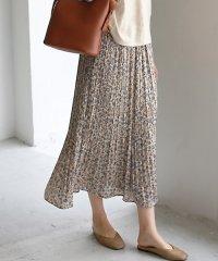 小花柄消しプリーツスカート
