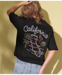 USAコットンマップ刺繍Tシャツ