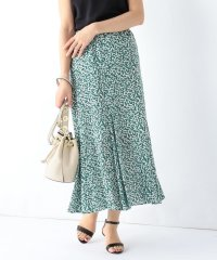 Demi-Luxe BEAMS/ コットンボイル プリントスカート