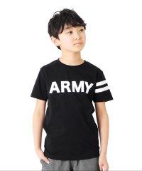 天竺・ARMYロゴプリント半袖Tシャツ