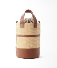 【LUDLOW/ラドロー】LEATHER STRAW BUCKET バッグ