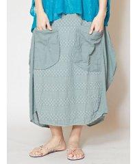 【チャイハネ】手刺繍 変形コットンスカート TXX-0630