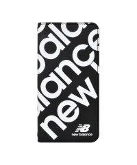 iPhone SE(第2世代)/8/7/6s/6 New Balance [スリム手帳ケース/スタンプロゴ/ブラック]