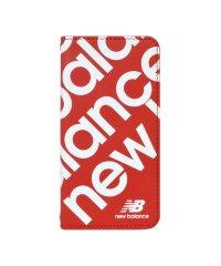 iPhone SE(第2世代)/8/7/6s/6 New Balance [スリム手帳ケース/スタンプロゴ/レッド]