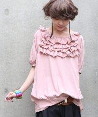『nOrフリルデザインTシャツ』