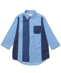 デニムクレイジー7分袖シャツ