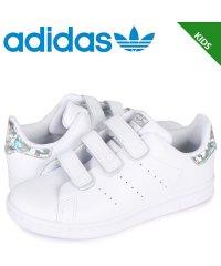 アディダス オリジナルス adidas Originals スタンスミス スニーカー ベルクロ キッズ STAN SMITH CF C ホワイト 白 EE848