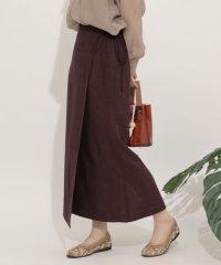 リネンライクラップスカート