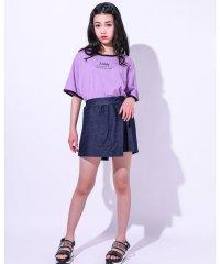 ロゴTシャツ+スカートパンツSET