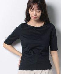 【洗える】コットン天竺 五分袖Tシャツ