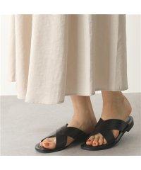 【CORSO ROMA(コルソローマ)】34 V 0034 カラー2色 レザー クロス フラットサンダル コンフォート 靴 レディース