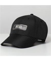 【DIESEL(ディーゼル)】SI7R CAXJ ロゴ ベースボールキャップ 帽子 9XX/ブラック メンズ