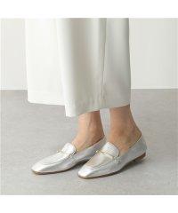 【FABIO RUSCONI(ファビオルスコーニ)】S 4015 レザー シューズ ビット ローファー シルバー レザー ポインテッドトゥ パンプス 靴 LUX