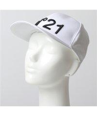 【N°21(ヌメロヴェントゥーノ)】7100 6945 1101 コットン ベースボールキャップ 帽子 立体ロゴ刺繍 レディース