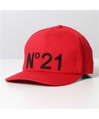 【N°21(ヌメロヴェントゥーノ)】7100 6945 4365 コットン ベースボールキャップ 帽子 立体ロゴ刺繍 レディース