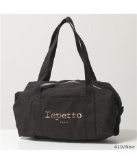 【repetto(レペット)】B0232T Cotton Duffle bag Size M プリント ロゴ ミディアム ダッフルバッグ ハンドバッグ 鞄 3色