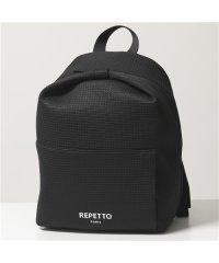 【repetto(レペット)】B0338NF Pavlova Small backpack スモール バックパック リュック ロゴ 410/Noir レディース