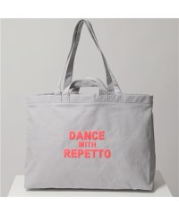 【repetto(レペット)】B0340DWR Dance with Repetto tote bag ネオンカラー ロゴ コットン キャンバス トートバッグ
