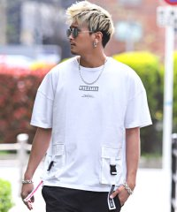 ダブルBIGポケットTシャツ/Tシャツ メンズ 半袖 ビッグシルエット ダブルポケット