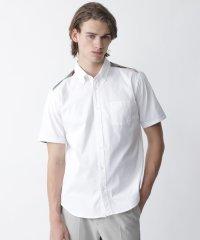 ヨークチェックソロテックスオックスボタンダウンハーフスリーブシャツ