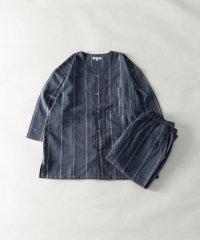 シジラ織り パジャマ 上下セット セットアップ ルームウェア リラクシングウェア