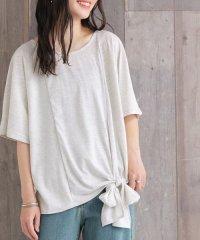 『nOr裾リボンデザインカットソー』
